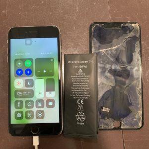フロントガラス交換とバッテリー交換をしたiPhone6splus