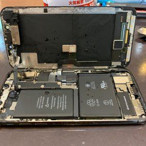 水没したiPhoneXs