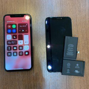 水没復旧作業を行ったiPhoneXs