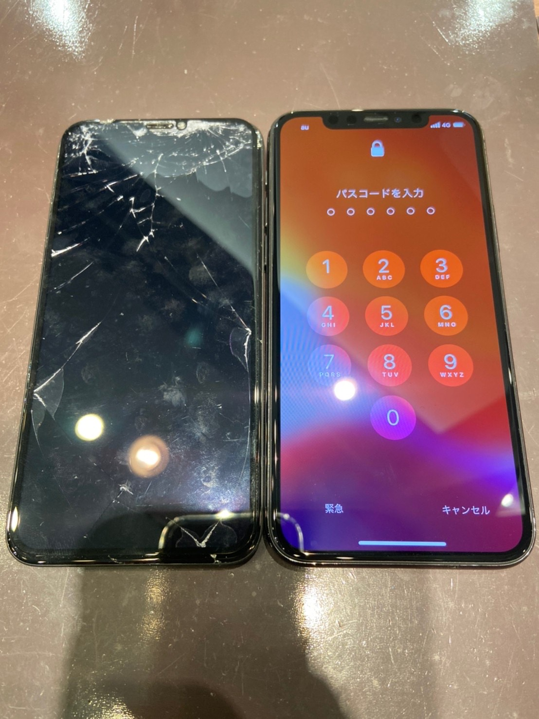 iPhoneX画面修理<佐賀市からご来店>どれだけ損傷していても即日修理致します。お気軽にご相談下さいませ。