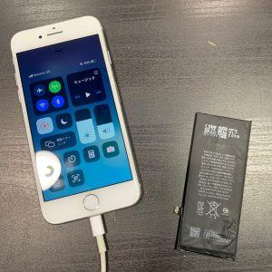 バッテリーを交換したiPhone8