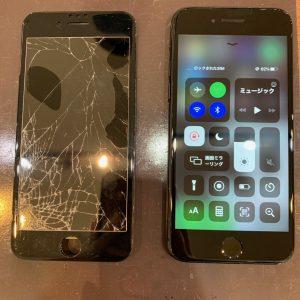 フロントガラスが破損したiPhone8