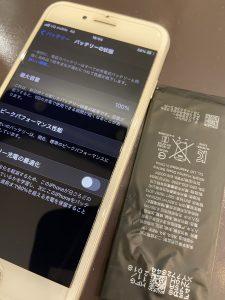 iPhone7のバッテリー交換後
