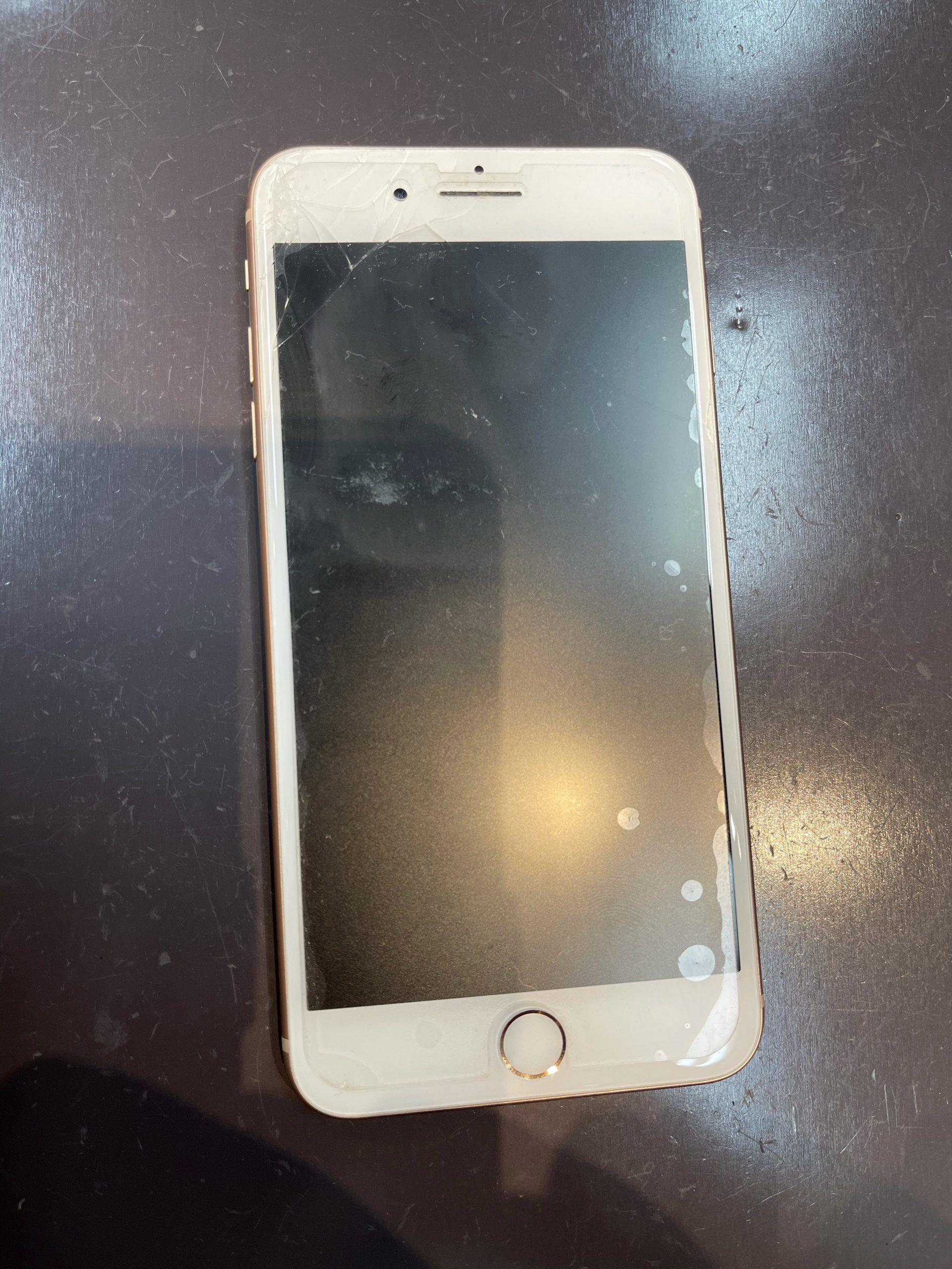 【iPhone8+】画面割れしました。〈佐賀市よりご来店〉