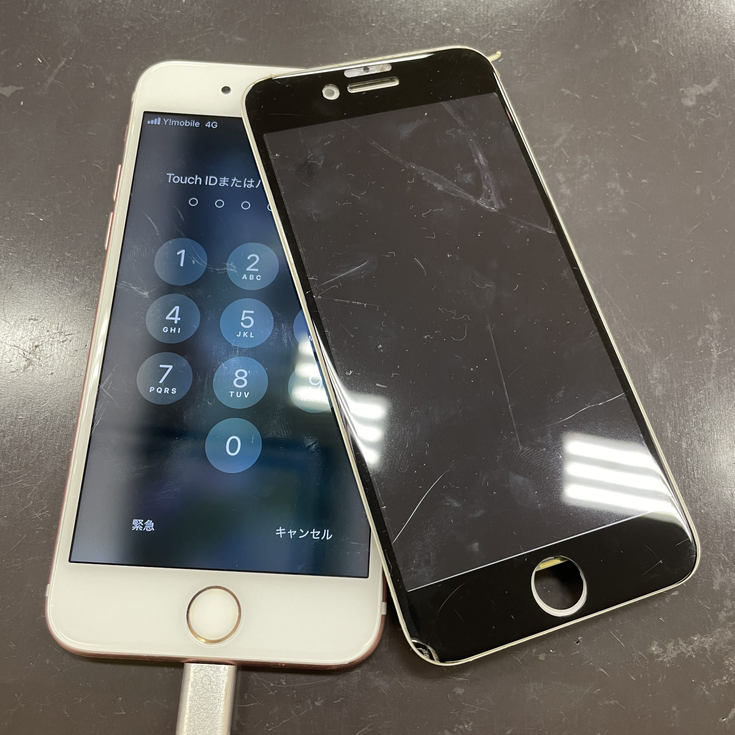 iPhone7の画面交換【佐賀市iPhone修理|唐津市よりご来店】