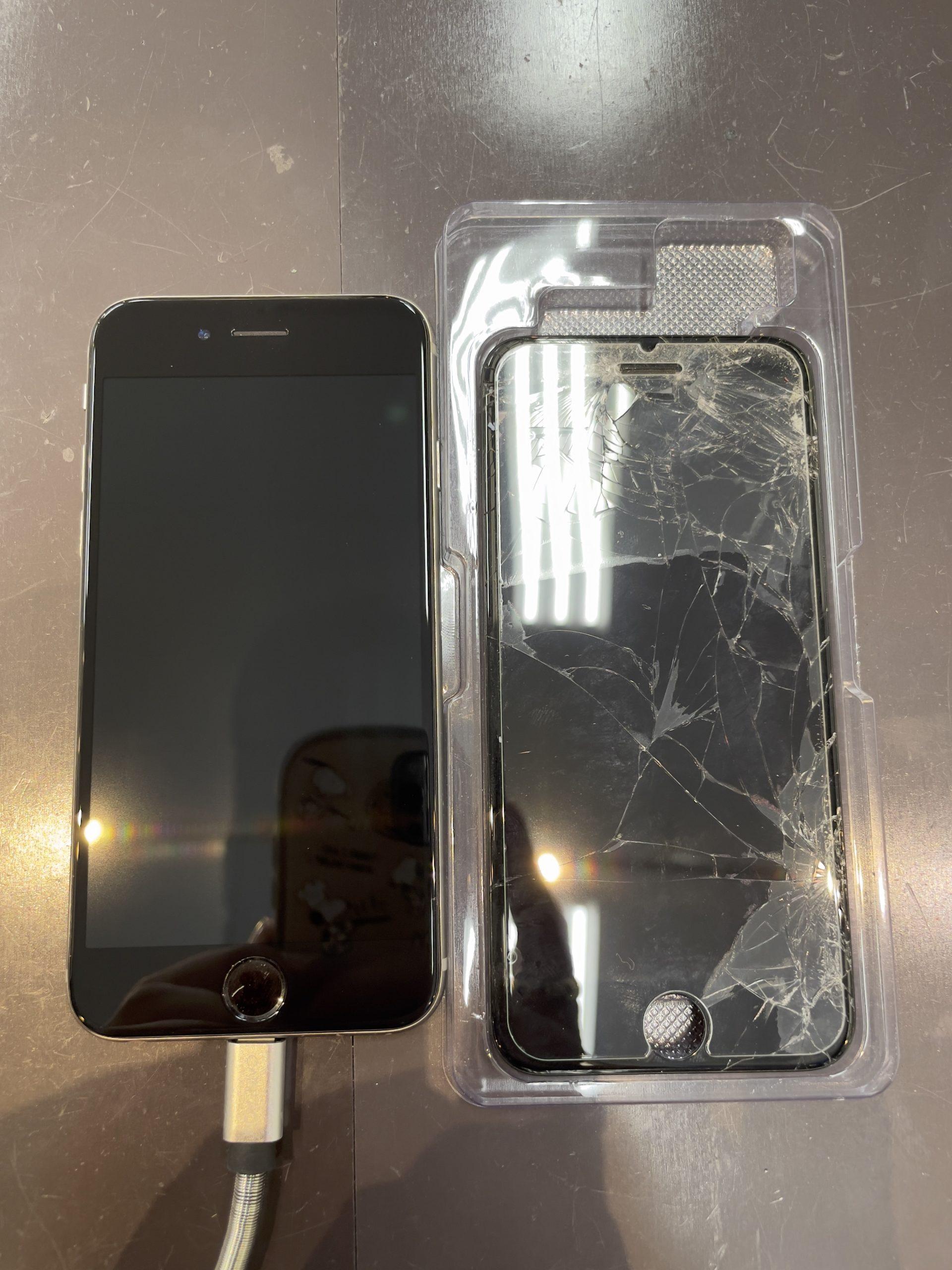 ガラスフィルムは貫通します😅【iPhone6|神埼市よりご来店】