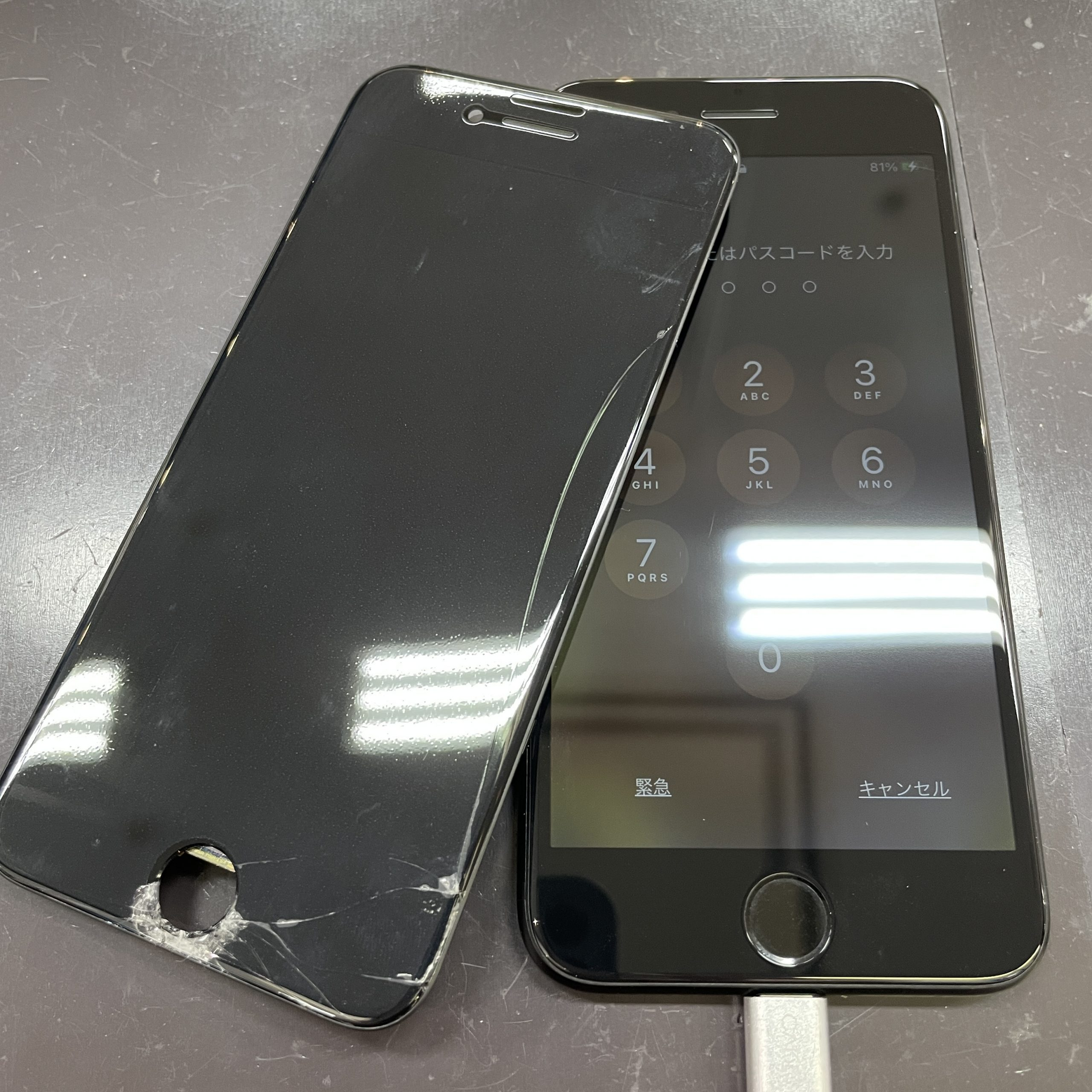 iPhoneSE2の画面修理【佐賀市iPhone修理店 三潴郡よりご来店】